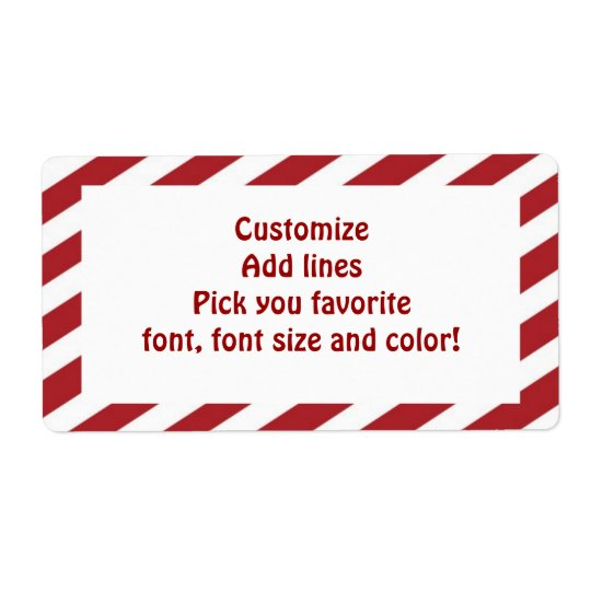 Christmas  stripes large label