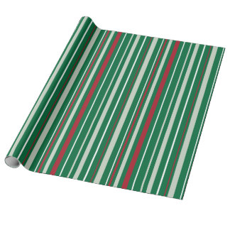 Christmas Stripes Pattern Wrapping Paper