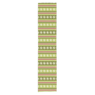 Christmas stripes polka dots snowflakes pattern short table runner