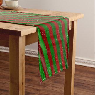 Christmas Stripes Short Table Runner