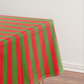 Christmas Stripes Tablecloth