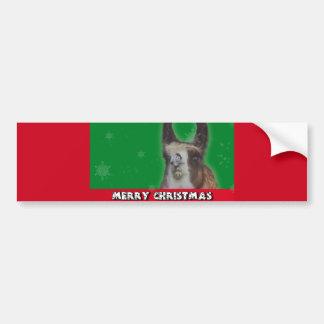 Christmas Stud Llama Happy New Year Bumper Sticker