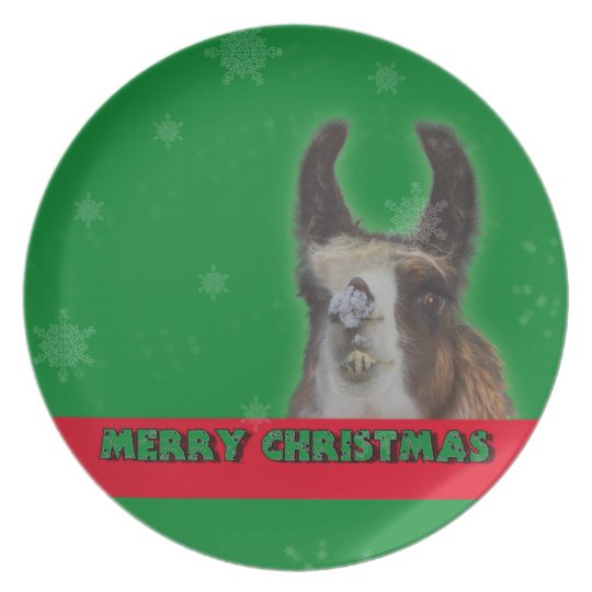 Christmas Stud Llama Happy New Year Plate