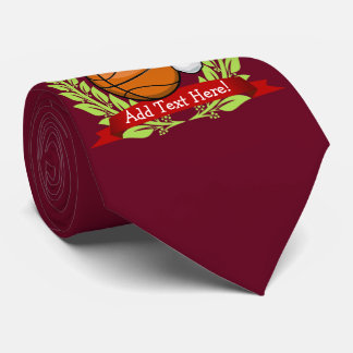 Christmas Style Basketball Tie