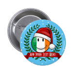 Christmas Style Smiling Irish Flag 2 Inch Round Button