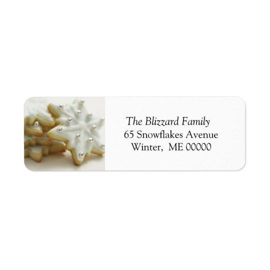 Christmas Sugar Cookies Holiday Address Sticker Return Address Label
