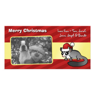Christmas Sugar Glider Personalized Photo Card