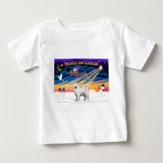 Christmas Sunrise - Samoyed Baby T-Shirt