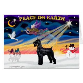 Christmas Sunrise - Schnauzer (Black Giant) Cards
