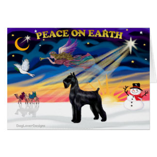 Christmas Sunrise - Schnauzer (Black Giant) Greeting Card