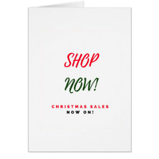 Christmas super sales greeting : New in shop Card