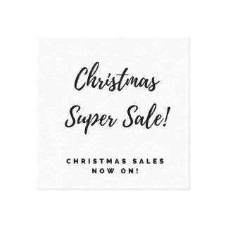 Christmas super sales Old typography canvas Art