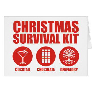 Christmas Survival Kit - Cocktail Card