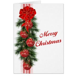 Christmas Swag Card