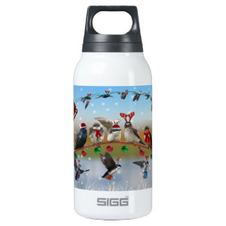 Christmas Swallows Insulated Water Bottle
