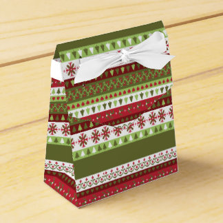 Christmas Sweater Holiday Tent Favor Box