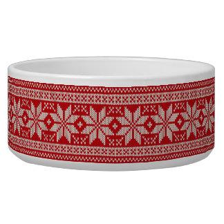 Christmas Sweater Knitting Pattern - RED
