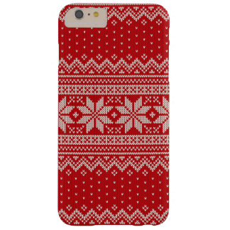 Christmas Sweater Knitting Pattern - RED Barely There iPhone 6 Plus Case