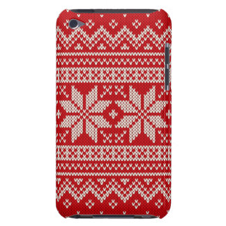 Christmas Sweater Knitting Pattern - RED Barely There iPod Cover