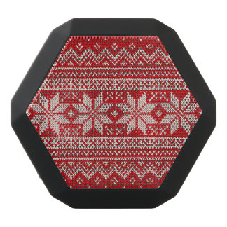 Christmas Sweater Knitting Pattern - RED Black Bluetooth Speaker