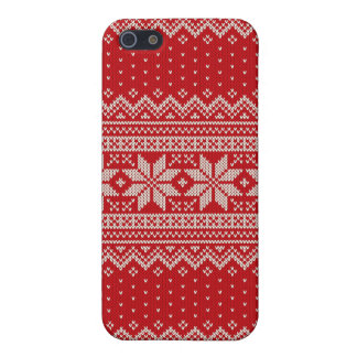 Christmas Sweater Knitting Pattern - RED Case For iPhone 5/5S