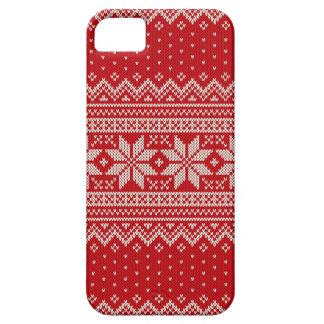 Christmas Sweater Knitting Pattern - RED Case For The iPhone 5