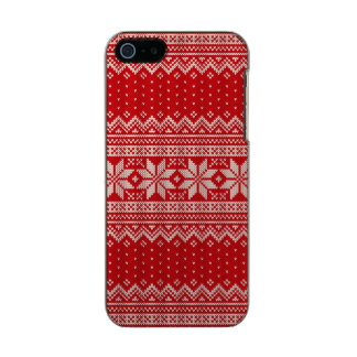 Christmas Sweater Knitting Pattern - RED Incipio Feather® Shine iPhone 5 Case