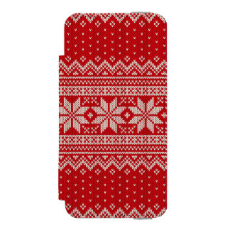 Christmas Sweater Knitting Pattern - RED Incipio Watson™ iPhone 5 Wallet Case