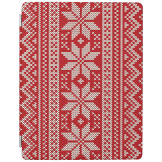 Christmas Sweater Knitting Pattern - RED iPad Cover