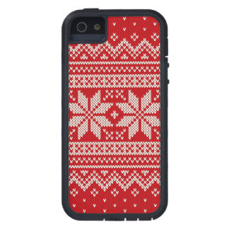 Christmas Sweater Knitting Pattern - RED iPhone 5 Case