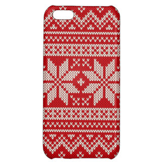 Christmas Sweater Knitting Pattern - RED iPhone 5C Cover