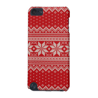 Christmas Sweater Knitting Pattern - RED iPod Touch 5G Covers