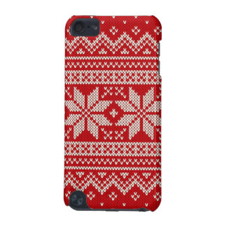 Christmas Sweater Knitting Pattern - RED iPod Touch (5th Generation) Covers