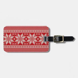 Christmas Sweater Knitting Pattern - RED Luggage Tag