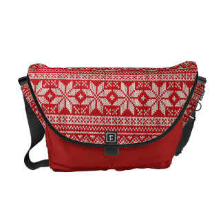 Christmas Sweater Knitting Pattern - RED Messenger Bags