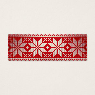 Christmas Sweater Knitting Pattern - RED Mini Business Card