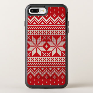 Christmas Sweater Knitting Pattern - RED OtterBox Symmetry iPhone 7 Plus Case