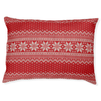 Christmas Sweater Knitting Pattern - RED Pet Bed