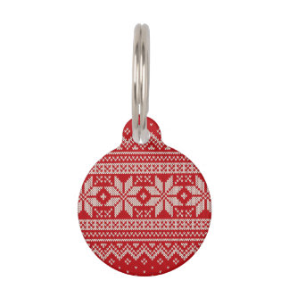 Christmas Sweater Knitting Pattern - RED Pet Tags