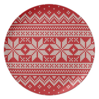Christmas Sweater Knitting Pattern - RED Plate
