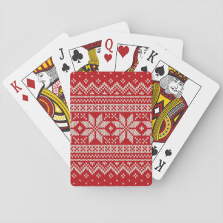 Christmas Sweater Knitting Pattern - RED Playing Cards