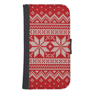 Christmas Sweater Knitting Pattern - RED Samsung S4 Wallet Case
