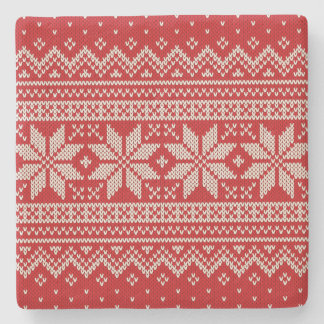 Christmas Sweater Knitting Pattern - RED Stone Coaster