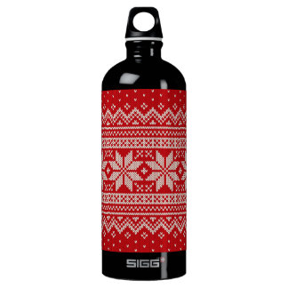 Christmas Sweater Knitting Pattern - RED Water Bottle