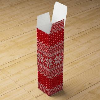 Christmas Sweater Knitting Pattern - RED Wine Box