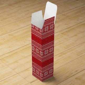 Christmas Sweater Knitting Pattern - RED Wine Gift Box