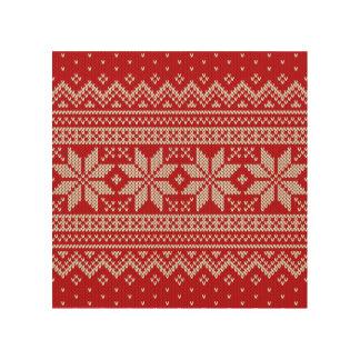 Christmas Sweater Knitting Pattern - RED Wood Wall Decor
