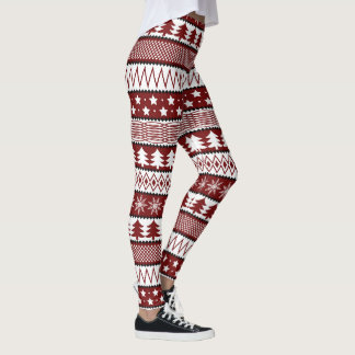 Christmas sweater pattern Holiday leggings