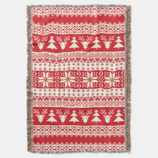 Christmas Sweater Throw Blanket