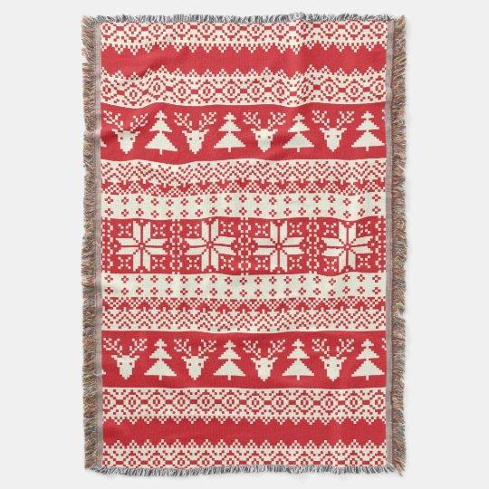 Christmas Sweater Throw Blanket